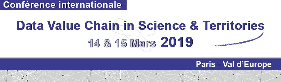 Conference Data Value Chain in Science and Territories